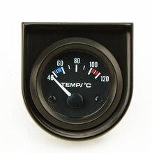 2Inch 52mm Universal Car Analog Water Temperature Temp Gauge 40-120C White LED