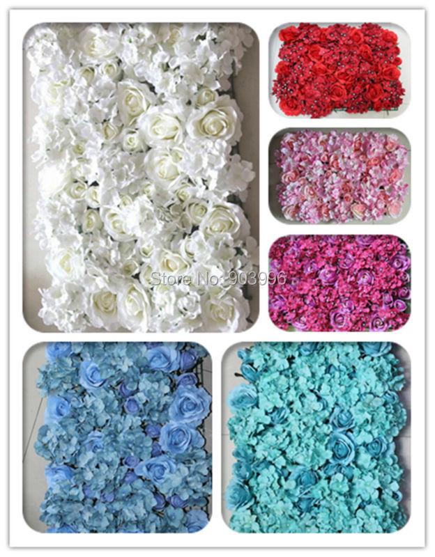 SPR Gratis verzending Kunstzijde rose bloem muur bruiloft achtergrond - Feestversiering en feestartikelen - Foto 1