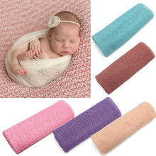 Newborn Baby Girl Boy Hollow Wraps Blanket Posing Swaddle Cover Photography Prop super quality baby soft banket(China)