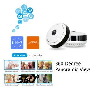 Image 3 - 960P מלא HD Fisheye 360 תואר פנורמי P2P IP המצלמה שתי דרך אודיו בית אבטחת CCTV VR מצלמת תמיכה TF כרטיס לבן מיני מצלמת