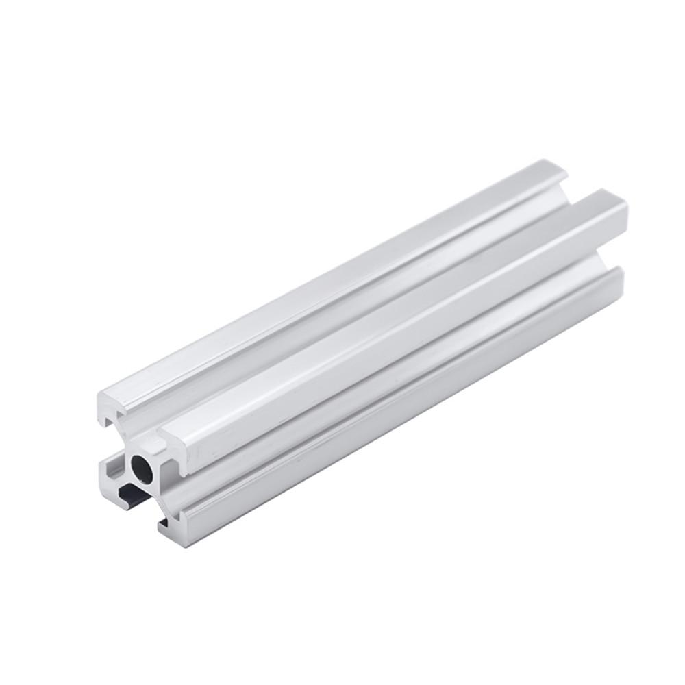 Perfil de aluminio 2020 1 ud. Perfil de aluminio 2020 extrusión estándar europeo riel guía perfil de aluminio anodizado 2020 CNC piezas de impresora 3D