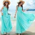 2016 novo estilo bohemian vestidos de maternidade roupas para mulheres grávidas enfermagem preto praia chiffon dress grávida roupas de verão