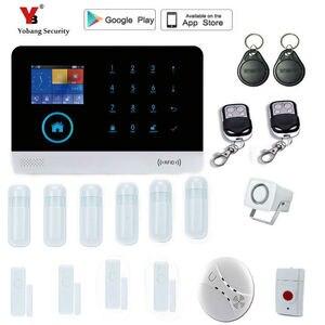 Image 5 - Yobang การรักษาความปลอดภัยไร้สาย gsm ระบบเตือนภัยจอแสดงผล TFT เซ็นเซอร์ประตูระบบรักษาความปลอดภัยภายในบ้านไร้สายชุดไซเรน