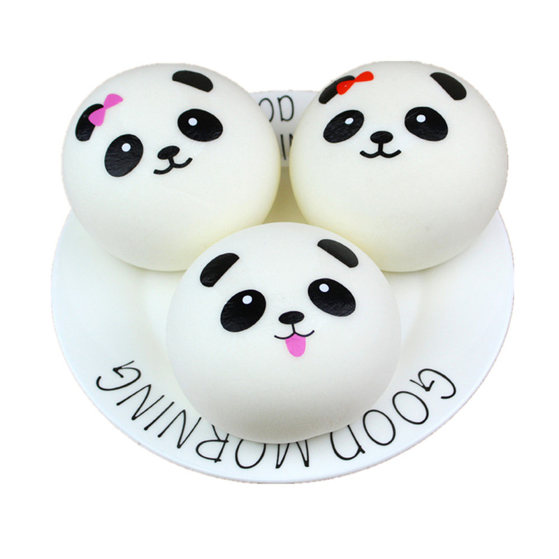 Free Shipping Cartoon Design Panda Squishy Slow Rising Cream Scented Toy Kids Kawaii Squ ...