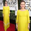 Women Maternity Red Carpet Celebrity Dresses Natalie Portman 2017 74th Golden Globe Award Beaded Long Pregnant Evening Gowns