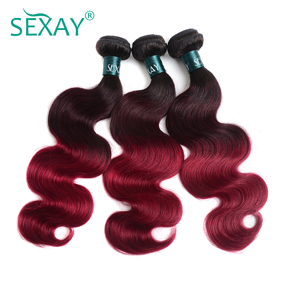 Now Is The Time Sexay Pre Colored Ombre Brazilian Hair Bundles