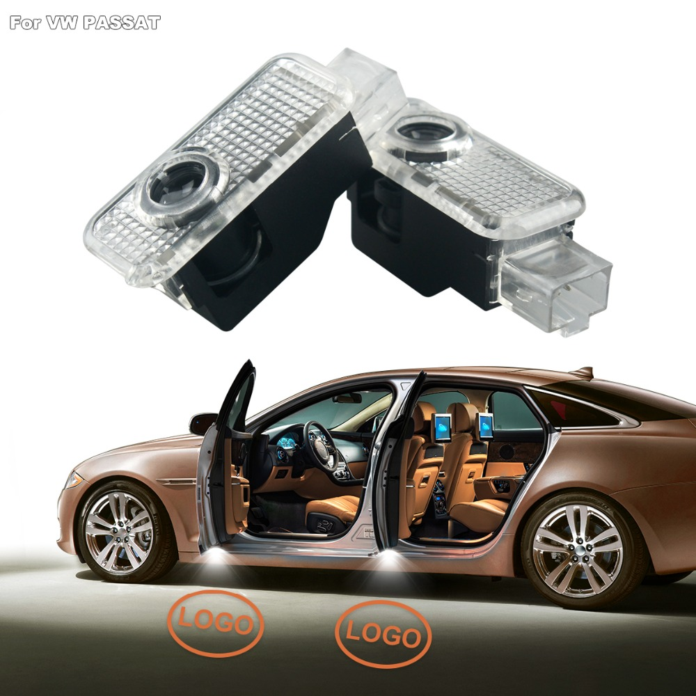 4pcs LED Laser Projector Lights Car Door Light For Volkswagen VW Passat B6 B7 Car Styling LED Shadow Light Decorative Lamp for volkswagen passat b6 b7 b8 led interior boot trunk luggage compartment light bulb