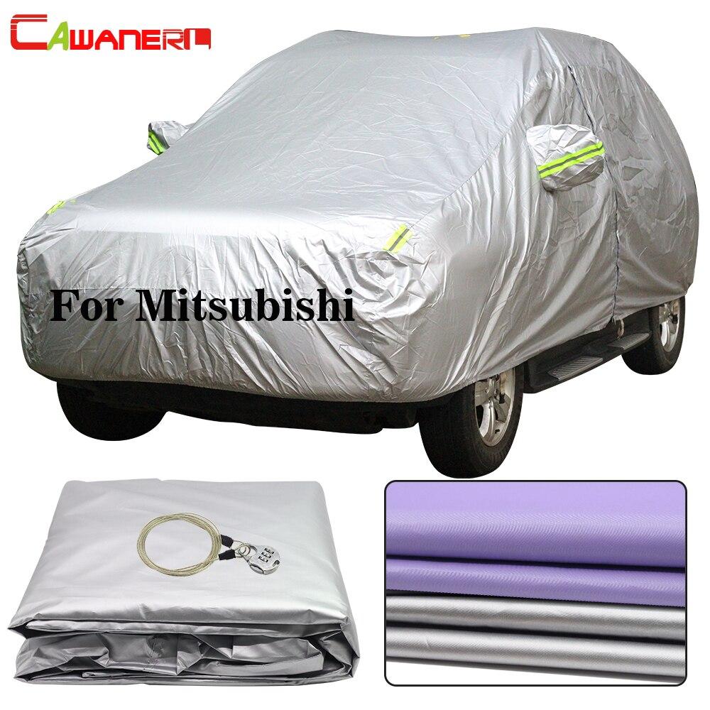 Cawanerl For Mitsubishi Colt ASX Lancer Outlander Pajero Grandis Galant Expo Waterproof Car Cover Sun Rain