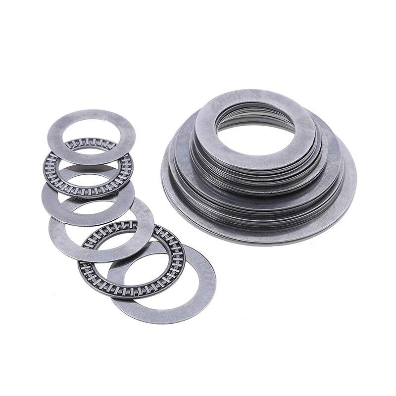 1set Miniature Bearing Steel Thrust Needle Roller Bearings With Two Washers AXK3047-AXK75100 Ultra Thin Shim Thrust Bearings