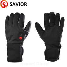 SAVIOR Electric Heated Gloves Motorcycle Battery Powered Rechargeable for Skiing Fishing Riding Hunting keep Hand Warm Men Women savior motorcycle heating gloves riding racing biking winter sports electric rechargeable battery heated warm gloves cycling