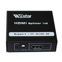 Wiistar Free shipping 1pcs full HD1080p HDMI splitter 1X2  with power supply HDMI 1 input to 2 output for HDTV 1080P Vedio free shipping 1pcs skt1200 16e power modules original new special supply welcome to order yf0617 relay