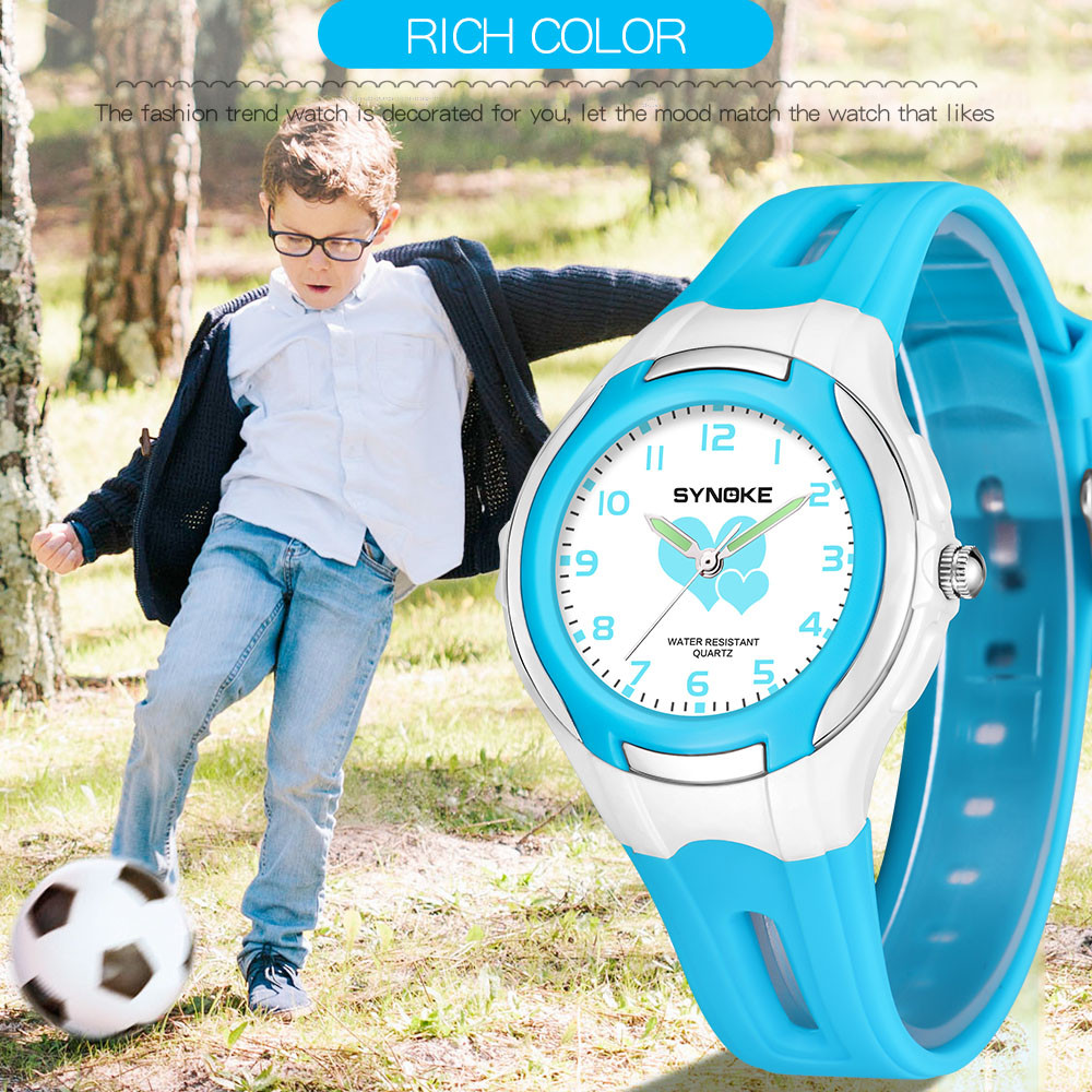 Children's Watches Cartoon Love Watch Casual Boys Sports Quartz Watches Luminous Kids Wristwatch Clock Hour Gift Relojes Relogio