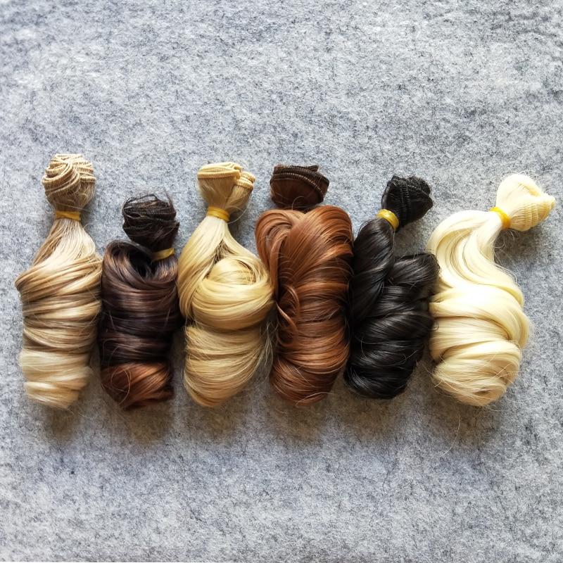 1PCS/LOT BJD Doll Accessories Natural Colors 15CM DIY Curly Doll Hair For BJD Doll Wig 1pcs bjd sd doll wigs accessories 15cm