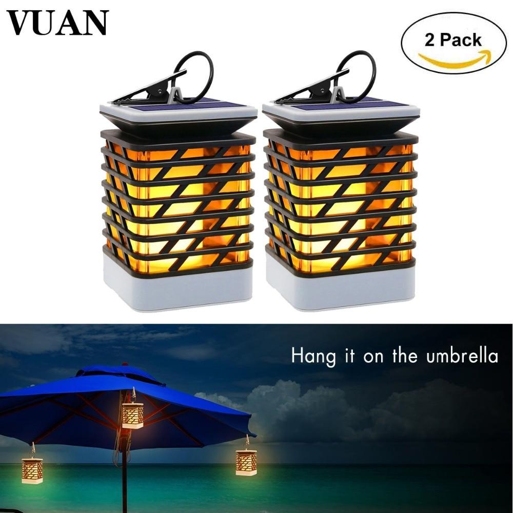 купить 2PCS Outdoor Solar Hanging Lights 75LED Solar Powered Flickering Flame Torch Lights Lantern Lamp for Garden Pathway Decoration по цене 3858.86 рублей