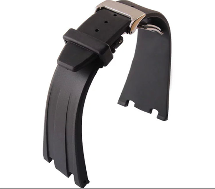 New watchband rubber watch belt Men Watches luxury accessories 28m,Black Strap Steel Silver\gold Deployment Clasp for AP 50pcs 100% new usbn9602 28m