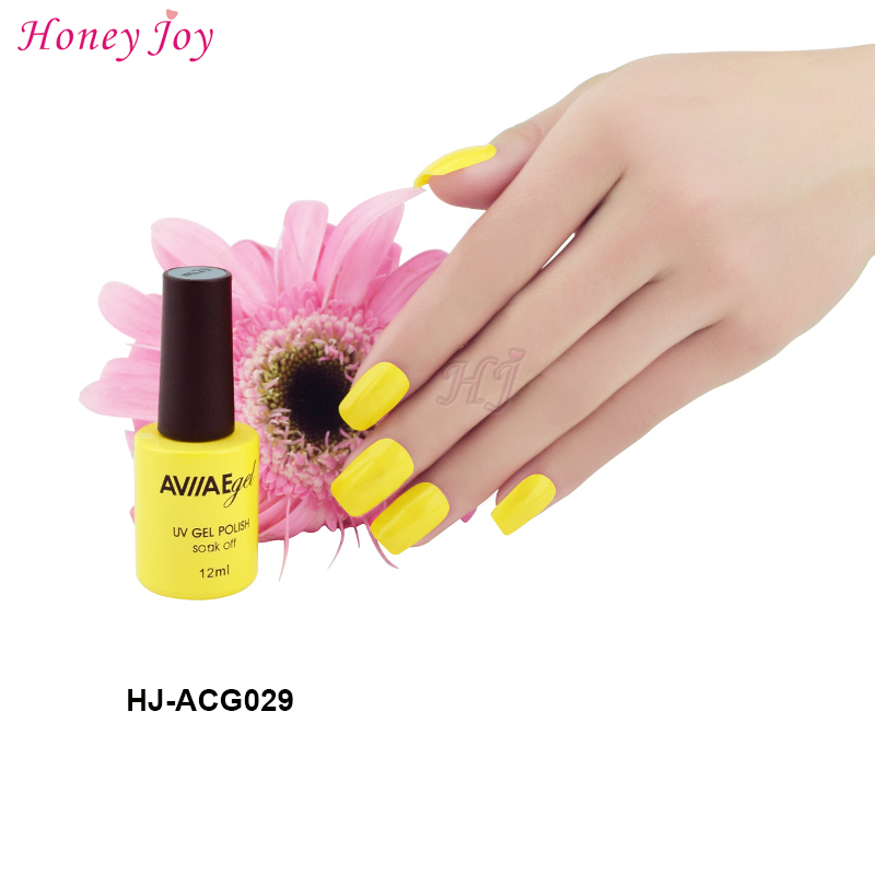 Aliexpress Aviiae Sunflower Yellow Color Gel Nail Polish Long Lasting Soak Off Led Uv L Cure Cosmetic Make Up 12ml From Reliable