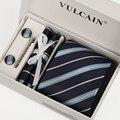 SHENNAIWEI темно-синий галстук в полоску мужчины галстуки и запонки платок галстук клип с подарочной коробке 5 компл. господа