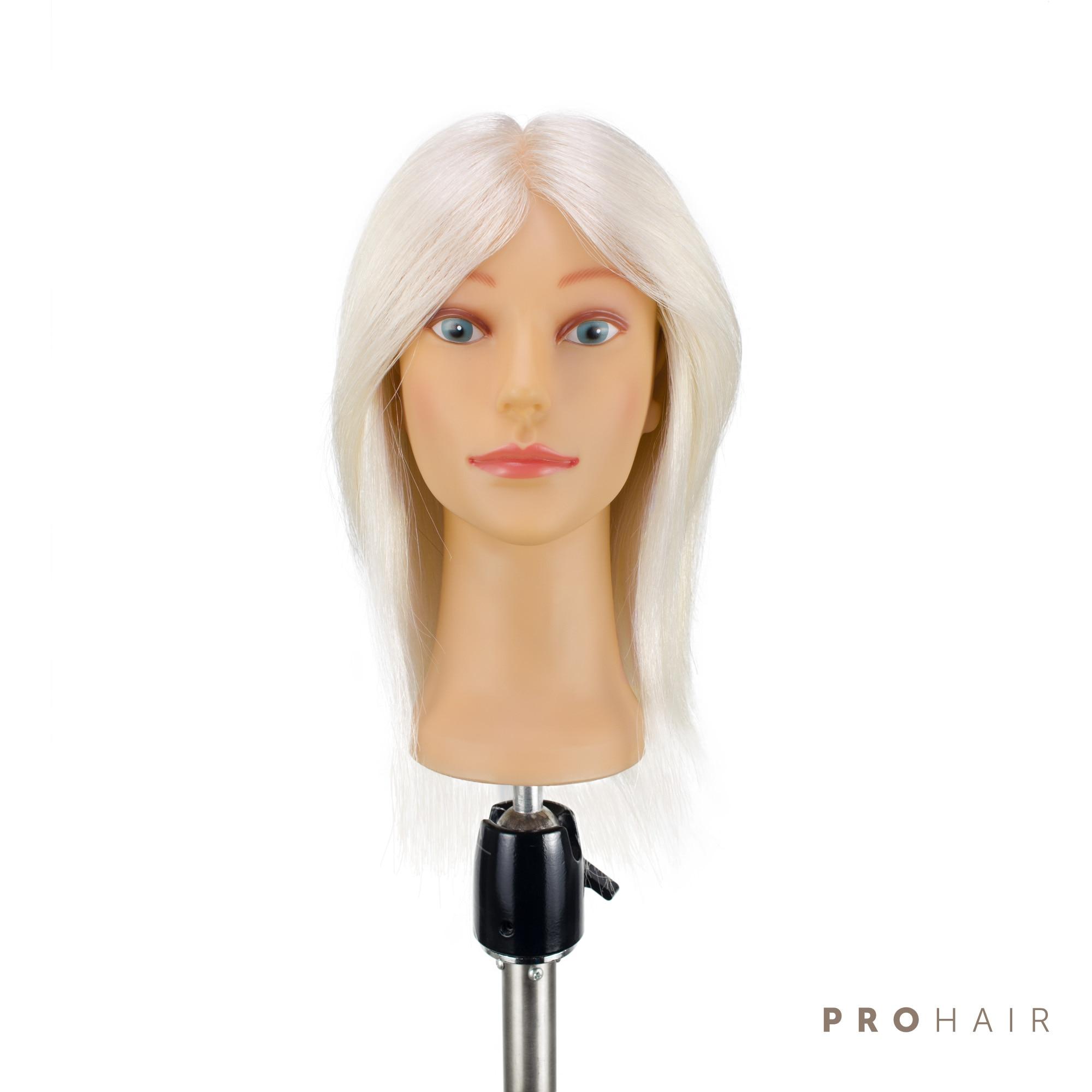 PROHAIR 30CM 12 100 Goat Hair White MINI Training Head Salon Female Mannequin Head Hairdressing Practice