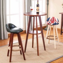 Mediterranean style bar chairs Office counter wood stool retail and wholesale free shipping