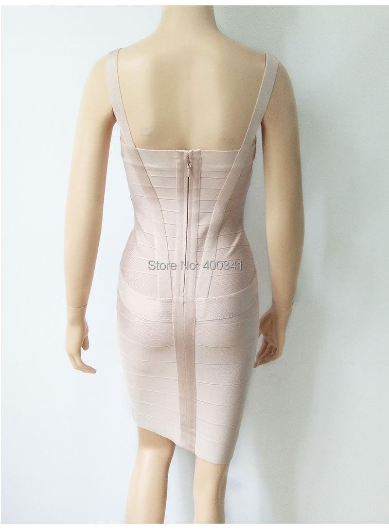 17 New Women Sexy Spaghetti Strap Rayon HL Elastic Celebrity Bandage Dress Bodycon Mini Club Party Dresses Drop Ship HL8675 18