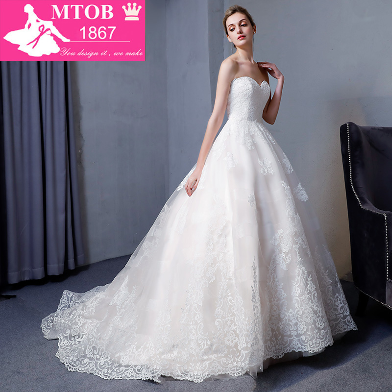 Image 3 - New Design A Line Lace Wedding Dresses 2018 Sweetheart backless Elegant Sexy Vintage Wedding Gowns China Online Shop MTOB1817Wedding Dresses   -