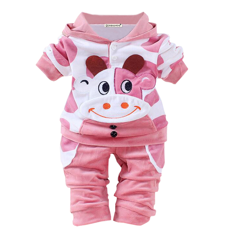 Kids Clothing Sets Long Sleeve T-Shirt + Pants, Autumn Spring Children's Sports Suit Boys Girls Clothes for 0-2 years child girls clothing sets 2015 autumn child casual long sleeve cat kitty cartoon t shirt