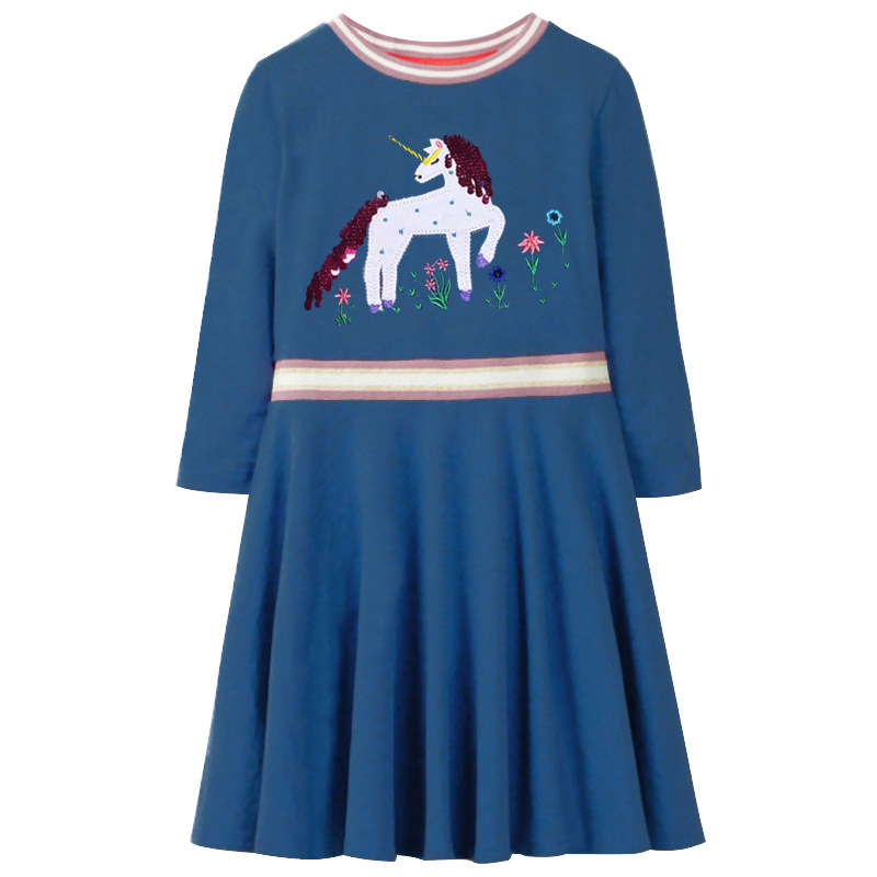 Little Girls Dresses 2019 Children Party Princess Costume Kids Print Sequin Dress Kids Summer Dresses Casual 4 To 5 10 Years in Dresses from Mother Kids