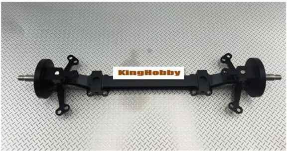 De Metal esquilando rastrillo diseño sin motor del eje delantero para Tamiya 56357 RC 1/14 Actros Benz Arocs 3348, 3363 6x4 8x8 6x6 camión volquete