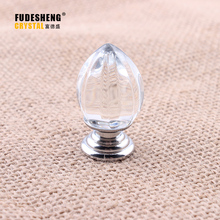 Transparent Crystal Glass Handle Durable Cupboard Door Handle Single Hole 20mm 37mm Cabinet Knobs and Handles