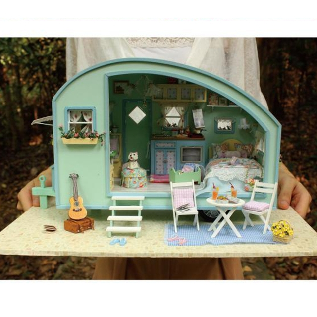 Hot Sale Diy Doll House Model Building Miniature DIY 3D Wooden Handmade DollHouse Birthday Gifts Dolls house Toy Time Travel