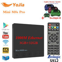DDR4 3G 32G Android 7 1 TV Box Amlogic S912 Octa Core 2 4G 5G Dual
