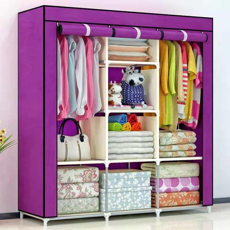 шкаы для одежды шкаф складной каркасный шкаф для одежды Мебель шкаф для хранения спальня мебель вешалка напольная тканевый шкаф мебель для ...