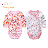 2017 New Brand 2PCS LOT Cartoon Style Baby Romper Infant Baby Clothing Long Sleeve Baby Christmas