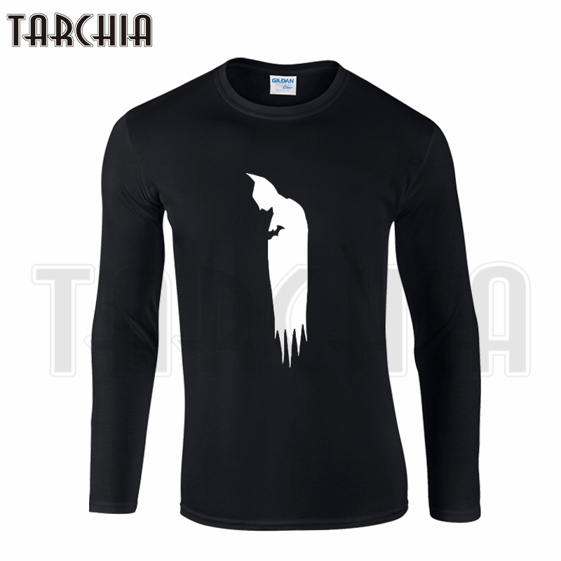 TARCHIIA Free Shipping Super Hero Lonly Batman Men's Long Sleeve Homme man T-Shirt Cotton tee Plus Size for Boy Woman Wear