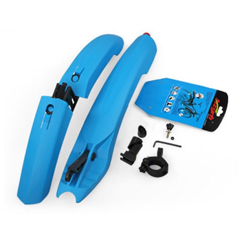 Flectional Mtb Front Schutzblech-set Fahrrad Fender Gummi Schnellverschluss mit Led-Licht