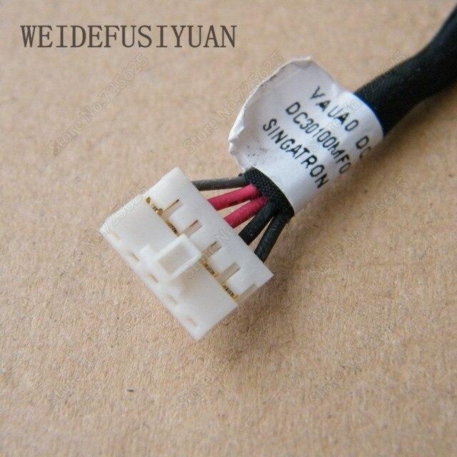 Nowy DC Jack wtyczki zasilania w Port ładowania gniazdo złącza z drutu kabel uprząż dla DELL Latitude E7440 E7450 6 KVRF DC30100MF00