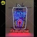 Neon Zeichen für MILLER LITE Es ist miller Zeit Zeichen Schmücken zimmer wand Handcrafted Neon lichter Zeichen glas Rohr Ikonische werben-in Neonröhren & Röhren aus Licht & Beleuchtung bei