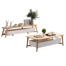 Living Room Set Living Room Furniture Home Furniture solid wood Coffee Tables+TV Stands Furniture sets hot 2018 Modern simple cheap Ecoz Minimalist Modern natural China