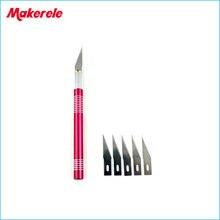 скальпель ножи Нож 5 Лезвия Древесины Инструменты Ремесло Скульптура