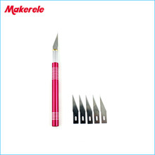 Carving Knife 5 Blades Wood Tools Craft Sculpture Engraving Scalpel DIY Cutting PCB Circuit Board Repair New Paper Cutter(China)
