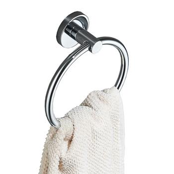 AUSWIND za darmo wieszak na ręczniki łazienka 304 ze stali nierdzewnej wieszak na ręczniki polski srebrny wieszak na ręczniki wieszak na ręczniki do montażu na ścianie Okrągły wieszak na ręcznik tanie i dobre opinie STAINLESS STEEL cxvfxg45 Pierścienie ręcznik