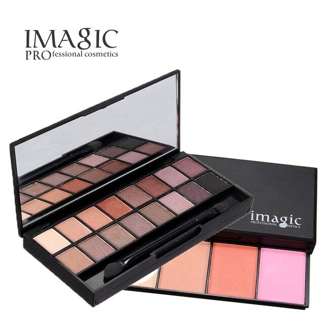 HOT Maquillaje Se Ruboriza Paleta de Colorete de Color con 16 colores de Sombra de Ojos Shimmer Maquillaje Paleta de Sombras de ojos Maquillaje Profesional Cara Blush