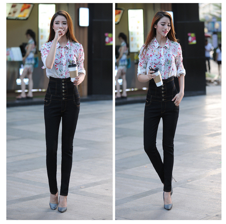 18 Jeans Womens High Waist Black Vintage Denim Long Pencil Pants Plus Size 6XL Woman Jeans Camisa Feminina Lady Fat Trousers 10