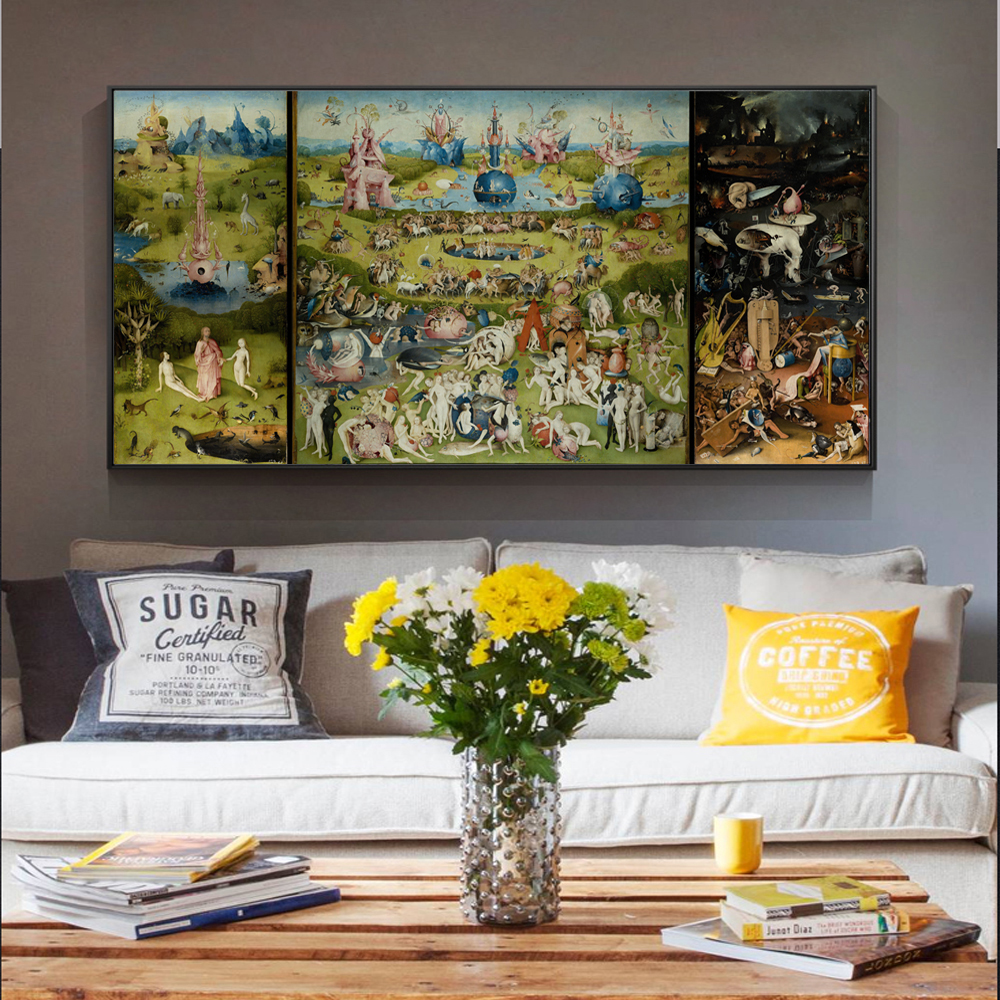 The Garden Of Earthly Delights Canvas Art Paintings Reproductions Bosch Hieronymus Canvas Art Prints For Living Room Cuadros