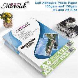 135 г 150 г A4 50 листов A6 100 листов самоклеящаяся струйная печать с обратной клейкой наклейкой фотобумагой