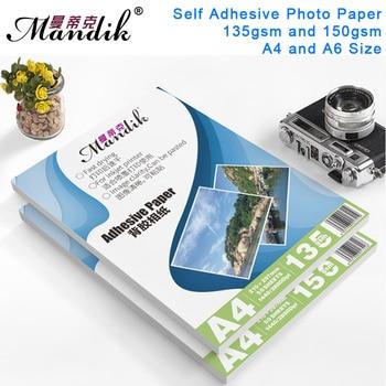 135g 150g A4 50 vellen A6 100 vellen Zelfklevend Inkjet Printen met back lijm sticker fotopapier