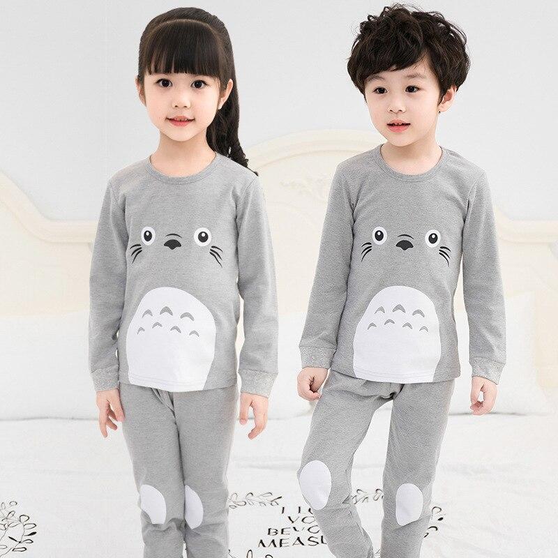 New Winter Cotton Kids Pyjamas Clothing Suit Boy Girl Sleepwear Totoro Cartoon Nightwear Pajama Set Baby Inflant Toddler Clothes