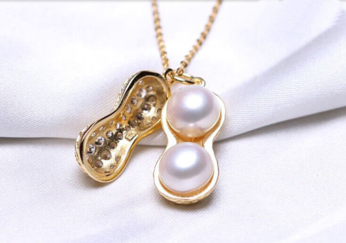 100% Selling full Fashion Stunning 8-9mm Freshwater pearl Pendants Necklaces optional color metal