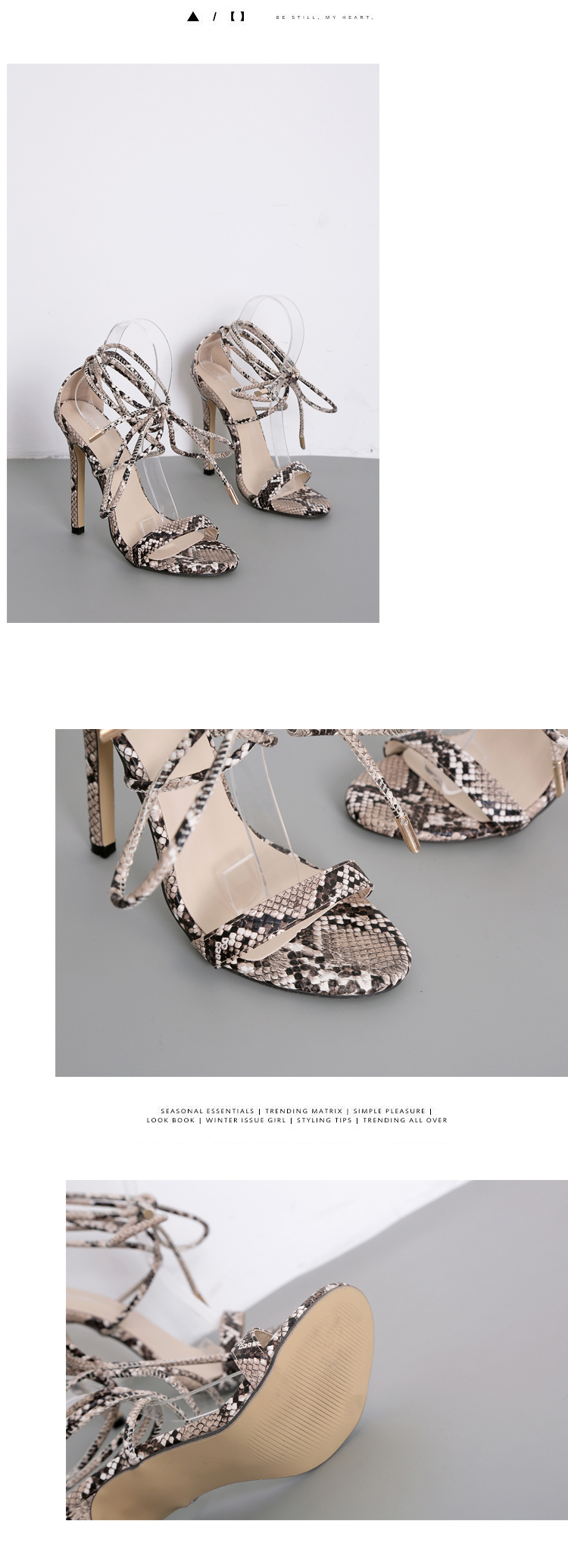 HTB1TtERX5LrK1Rjy1zdq6ynnpXao Aneikeh Fashion 2019 Summer Women's Sandals PU Lace-Up Thin High Heels Cover Heel Shallow Mature Serpentine Dance Solid 35-40