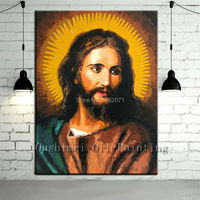 Top Manufacturer Supply High Quality Hand painted Portrait Jesus Christ Oil Painting On Canvas Jesus Christ Canvas Painting